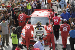 Victory lane: Earnhardt Ganassi Racing Chevrolet pushed back out