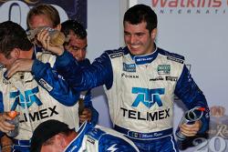 Victory lane: race winners Scott Pruett and Memo Rojas