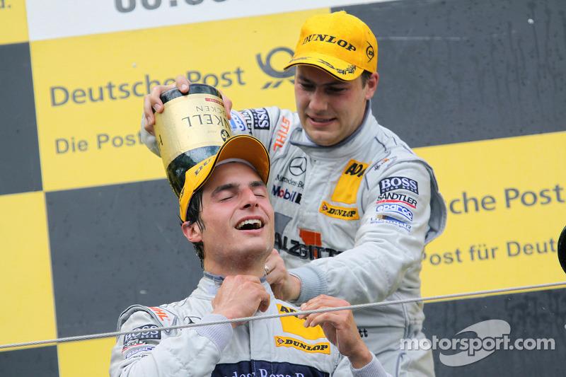 Podium: winnaar Bruno Spengler, Team HWA AMG Mercedes C-Klasse