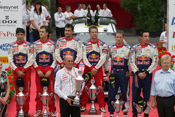 Podium: winnaars Sébastien Loeb en Daniel Elena, Citroën C4, Citroën Total World Rally Team, 2de Daniel Sordo en Diego Vallejo, Citroën C4 Citroën Total World Rally Team, 3de Sébastien Ogier en Julien Ingrassia, Citroën C4 WRC