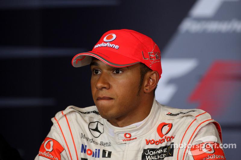 Persconferentie: winnaar Lewis Hamilton, McLaren Mercedes