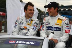 Gary Paffett, Team HWA AMG Mercedes C-Klasse en Bruno Spengler, Team HWA AMG Mercedes C-Klasse