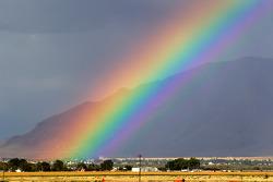 Rainbow over the Miller Motorsports Park paddock