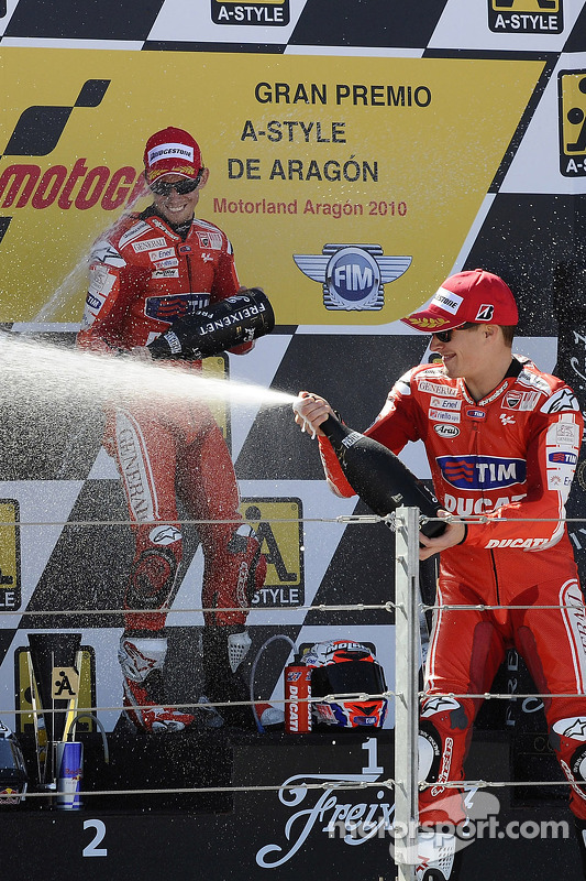 Podium: troisième place pour Nicky Hayden, Ducati Marlboro Team