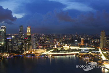 Singapore City, Skyline and the Marina Bay Street Circuit