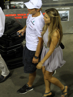 Nico Rosberg, Mercedes GP Petronas with Vivian Sibold the girlfriend of Nico Rosberg