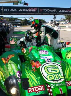 Pitstop #99 Green Earth Team Gunnar Oreca FLM09: Gunnar Jeannette, Christian Zugel, Elton Julian