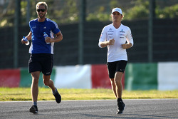 Nico Rosberg, Mercedes GP running the track