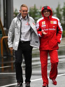 Martin Whitmarsh, McLaren, Chief Executive Officer and Stefano Domenicali, Scuderia Ferrari Sporting Director