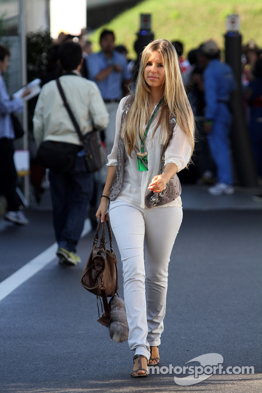 Vivian Sibold the girlfriend of Nico Rosberg at Japanese GP