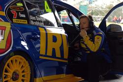 Wachten op de trainingsessie, Irwin Tools Racing