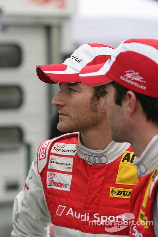 Polepositie Timo Scheider, Audi Sport Team Abt Audi A4 DTM, 2de Mike Rockenfeller, Audi Sport Team Phoenix