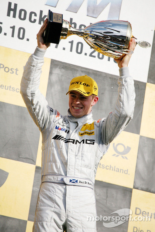 Podium: race winnaar Paul di Resta, Team HWA AMG Mercedes C-Klasse