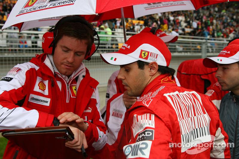 Rob Smedley, Scuderia Ferrari, Chief Engineer Felipe Massa en Felipe Massa, Scuderia Ferrari