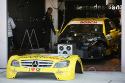 Car of David Coulthard, Mücke Motorsport, AMG Mercedes C-Klasse at the garage