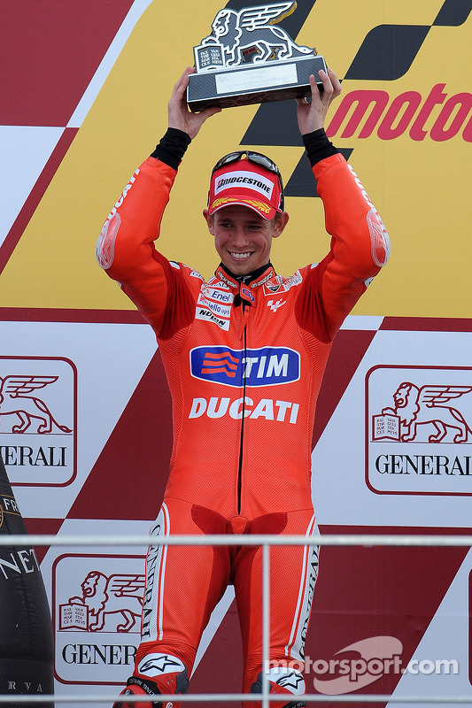 Podium: 2de Casey Stoner, Ducati Marlboro Team