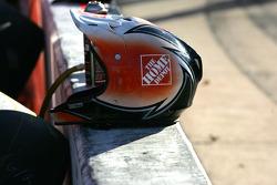 Home Depot helmet sits ready