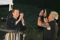 Asphalt Chef event: Kurt Busch and Guy Fieri