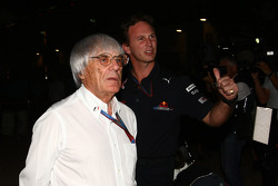 Bernie Ecclestone en Christian Horner, Red Bull Racing, Sporting Director