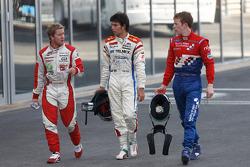 Sergio Perez, Oliver Turvey and Sam Bird