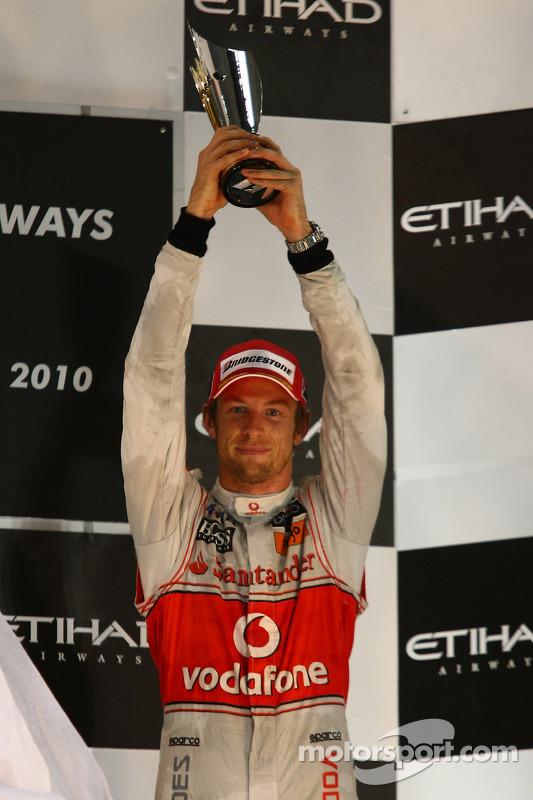 Podium: 3de Jenson Button, McLaren Mercedes
