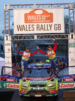 Podium: third place Jari-Matti Latvala and Malcolm Wilson