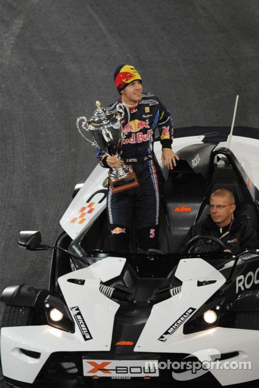 Nations Cup winner Sebastian Vettel for Team Germany