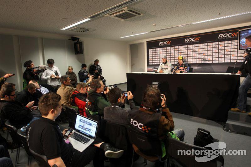 Persconferentie: Nations Cup winnaars Michael Schumacher en Sebastian Vettel voor Team Duitsland