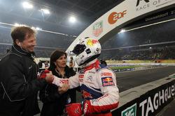 Segundo lugar a Sébastien Loeb con organizadores ROC Frederik Johnson y Mouton de Michèle