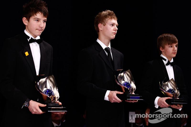 CIK-FIA Karting World Champions at the 2010 FIA Prize Giving Gala in Monaco