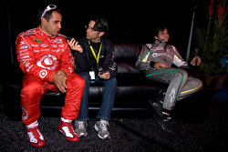 Juan Pablo Montoya, Earnhardt Ganassi Racing Chevrolet and NASCAR Camping World Truck Series driver Nelson A. Piquet
