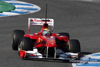 Ferrari testing at Jerez