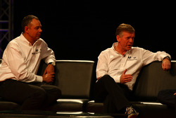 Nick Wirth, Technical Director, Marussia Virgin Racing with Andy Webb CEO of Marussia Racing