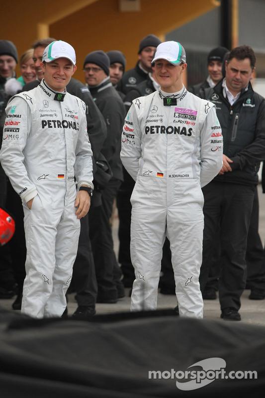 Nico Rosberg, Mercedes GP F1 Team: Michael Schumacher, Mercedes GP F1 Team