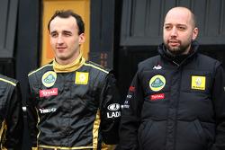 Robert Kubica, Lotus Renault GP and Eric Boullier, Team Principal, Lotus Renault GP