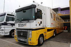 The truck of Lotus Renault GP