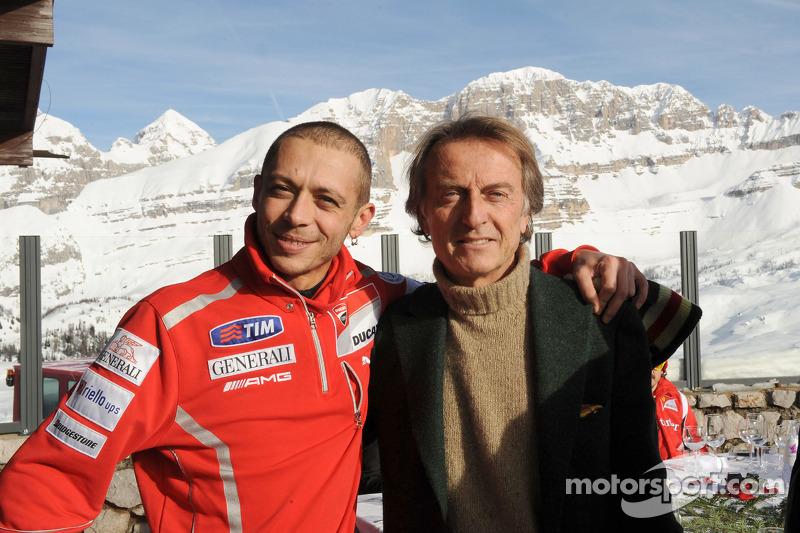 Валентино Россі та Лука ді Монтедземоло, президент Ferrari