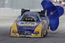 Ron Capps deploys the parachutes aboard his NAPA Auto Parts Dodge Charger