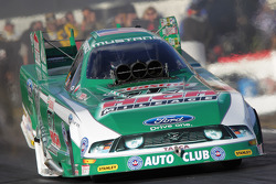 John Force in his Castol High Mileage Ford Mustang Funny Car