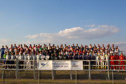 Group shot of the 12 Hours of Sebring drivers