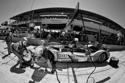 Pit stop for #1 Audi Sport Team Joest Audi R15+: Timo Bernhard, Romain Dumas, Mike Rockenfeller