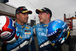 Robert Huff, Chevrolet Cruze 1.6T, Chevrolet pole position and Yvan Muller, Chevrolet Cruz 1.6T, Chevrolet 2nd position