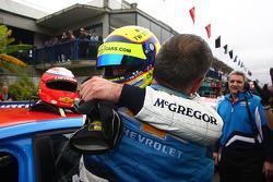 Alain Menu, Chevrolet Cruze 1.6T, Chevrolet race winner and Tom Coronel, BMW 320 TC, ROAL Motorsport 2nd position