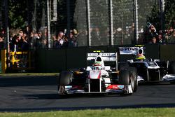 Sergio Perez, Sauber F1 Team y Pastor Maldonado, Williams F1 Team