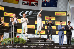 Podium: Sieger Lewis Hamilton, Mercedes AMG F1; 2. Nico Rosberg, Mercedes AMG F1; 3. Daniel Ricciardo,  Red Bull Racing