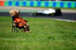 Nico Rosberg, Mercedes AMG F1 W07 Hybrid passes a teady bear