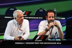 Charlie Whiting, FIA Delegate and Matteo Bonciani, FIA Media Delegate at a FIA Press Conference
