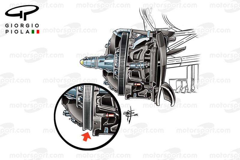 Mercedes F1 W07: Bremsscheibe