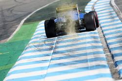 Felipe Nasr, Sauber C35 sends sparks flying