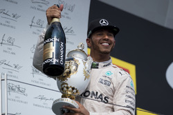 Lewis Hamilton, Mercedes on the podium